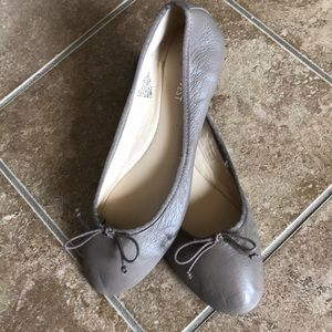 Nine West Classica Taupe Round Toe Ballet Flats
